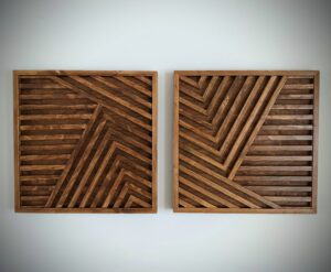"Wood art diptych 24X24"" each (SOLD)"