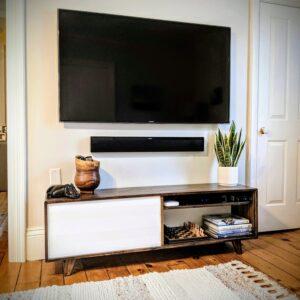 Mid-century TV console